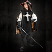 Musketeer Surcoat - Black / Red